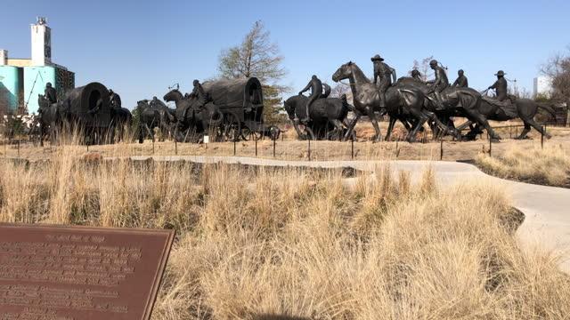 centennial land run monument - former stock videos & royalty-free footage