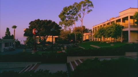 t/l ws center of santa barbara city college campus, sunrise to day / california, usa - santa barbara california stock videos & royalty-free footage
