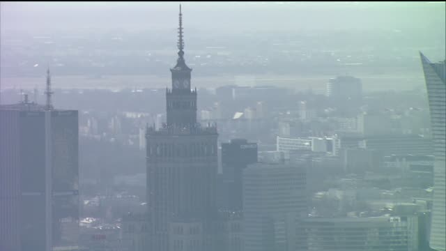 center of warsaw - intercontinental hotels group stock videos & royalty-free footage