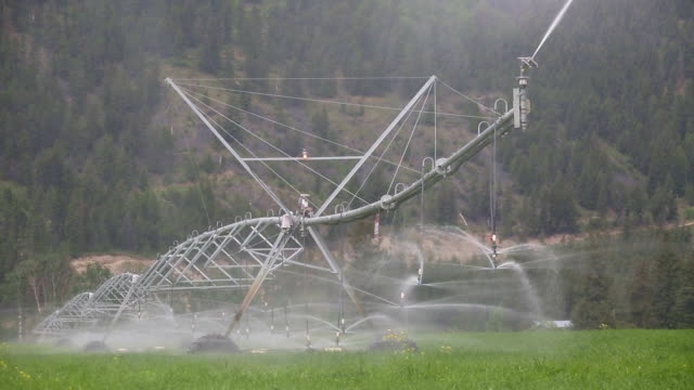center pivot irrigation equipment - columbia center stock videos and b-roll footage