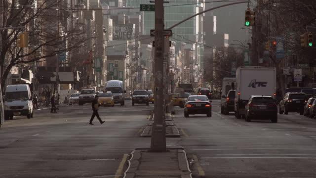 Centered on Bowery Street in Manhattan