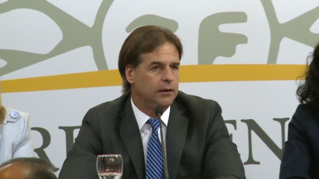 center-right uruguay president-elect luis lacalle pou wants pragmatism to trump ideology in foreign affairs as he mentions tensions between mercosur... - mercosur stock videos & royalty-free footage