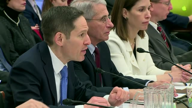centers for disease control director thomas frieden tells members of a house subcommittee inquiring into the public health response to an outbreak of... - bundesgesundheitsamt der usa stock-videos und b-roll-filmmaterial