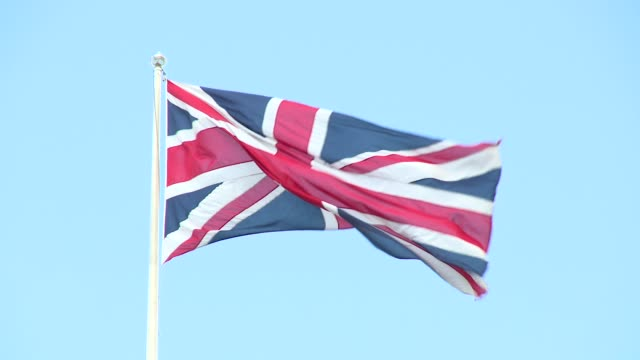 atmosphere centotaph chelsea pensioner union flag on april 25 2018 in london england - british flag stock videos and b-roll footage
