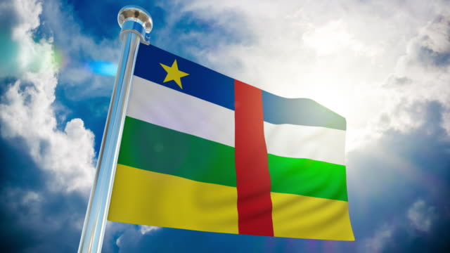 4k - central african flag   loopable stock video - country geographic area stock videos & royalty-free footage