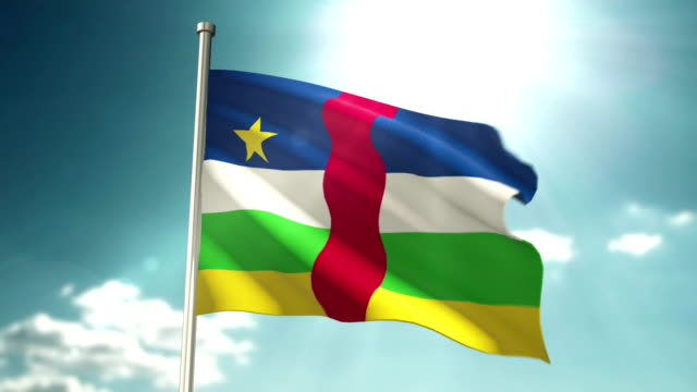 4 k 中央アフリカ共和国の国旗 - 政治と行政点の映像素材/bロール