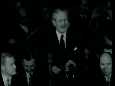 central african review conference opened by harold macmillan london lancaster house harold macmillan mp arrives in towards and roy welensky arrives... - joshua nkomo stock videos & royalty-free footage