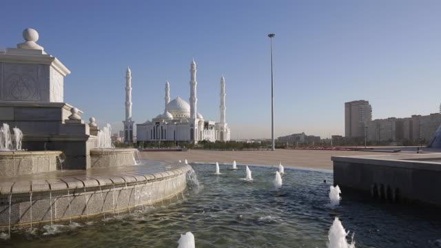 central asia, kazakhstan, astana, hazrat sultan mosque, the largest in central asia - kazakhstan stock videos & royalty-free footage