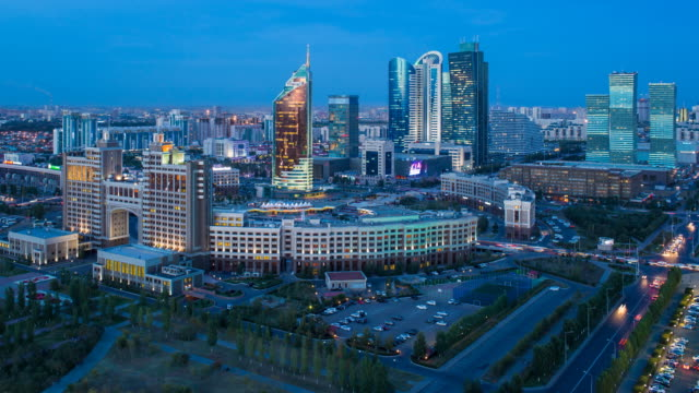Central Asia, Kazakhstan, Astana, the city center and central business district
