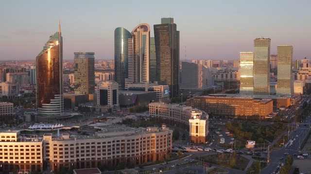 central asia, kazakhstan, astana, the city center and central business district - kazakhstan stock videos & royalty-free footage