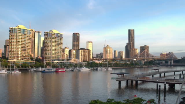 central business district, brisbane, australia - roadblock stock videos & royalty-free footage