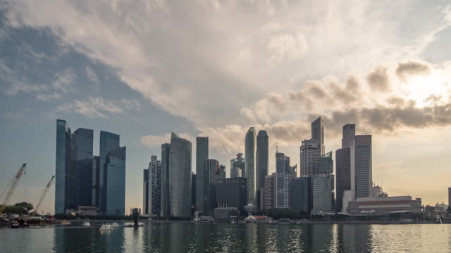 stockvideo's en b-roll-footage met central business district building, singapore - 10 seconds or greater