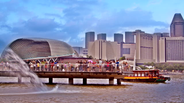 central business district in singapore - promenade stock videos & royalty-free footage