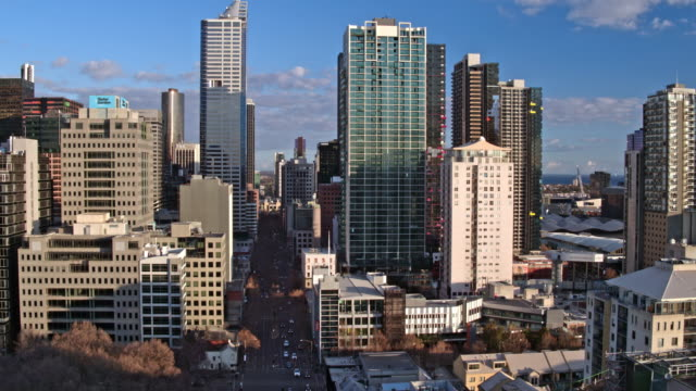 central business district, melbourne, victoria, australia - cityscape stock videos & royalty-free footage