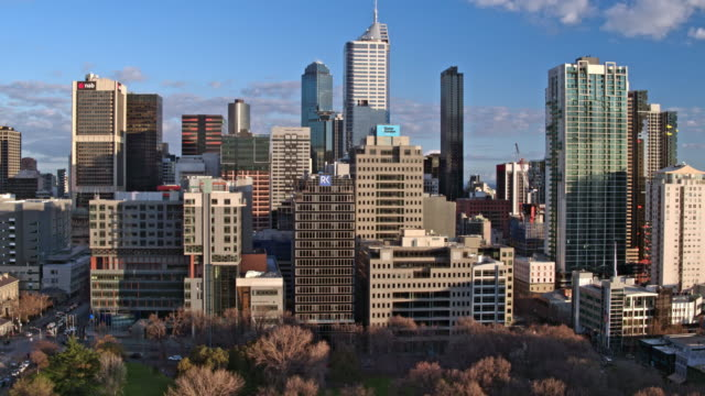central business district, melbourne, victoria, australia - antenna aerial stock videos & royalty-free footage