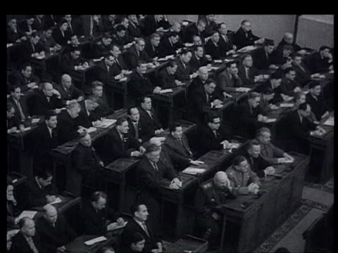 central commitee's ideology khrushchev's speech with natural sound synch newspaper titles december 1959 - 1959 stock videos and b-roll footage