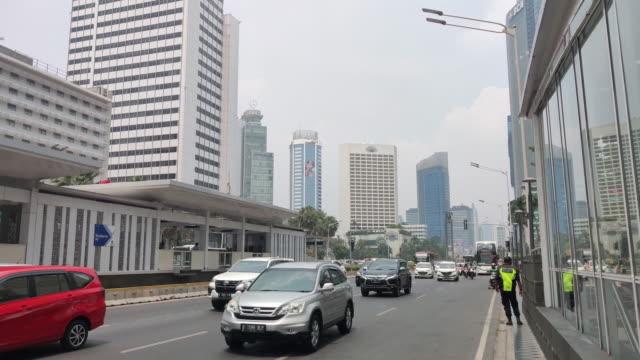 central district bundaran hi jakarta. - imam stock videos & royalty-free footage