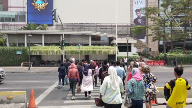 central district bundaran hi jakarta. - indonesia landmark stock videos & royalty-free footage