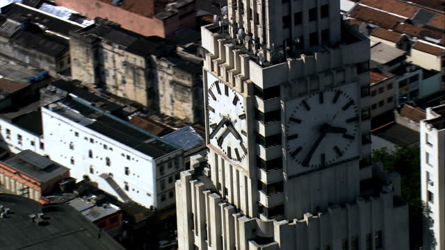 central do brasil  - aerial view - rio de janeiro, rio de janeiro, brazil - mid section stock videos & royalty-free footage