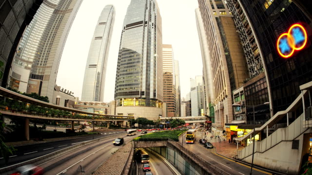 Central Hong Kong business district HD timelapse video