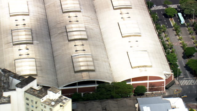 central market  - aerial view - minas gerais, belo horizonte, brazil - belo horizonte stock videos and b-roll footage
