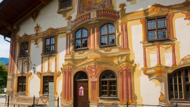 central oberammergau, pilatushaus and kofel mountain hyperlapse - sentencing stock videos & royalty-free footage