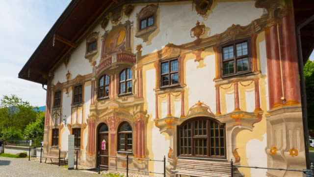 central oberammergau, pilatushaus, steady cam - sentencing stock videos & royalty-free footage
