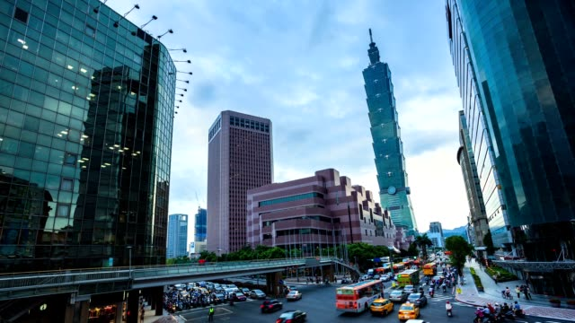 central of taipei - taiwan stock videos and b-roll footage