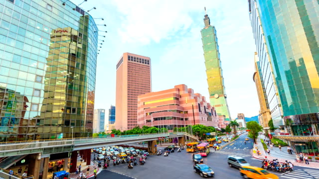 central of taipei - taipei 101 stock videos and b-roll footage