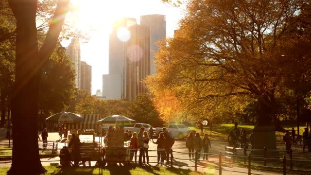 Central Park herfst middag in New York City