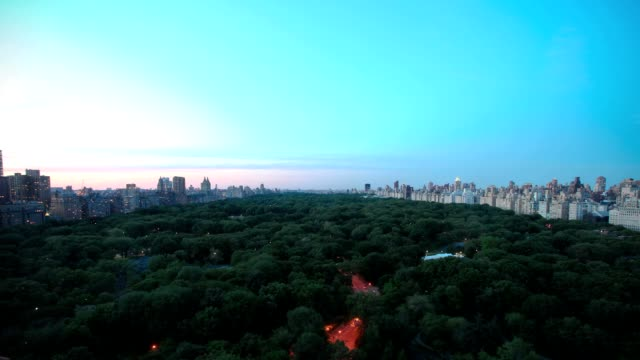 Central Park from day to night - timelapse