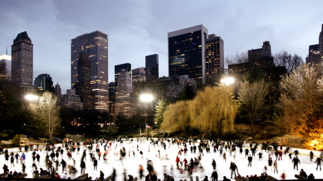 Central Park - Ice Skating and Sunset