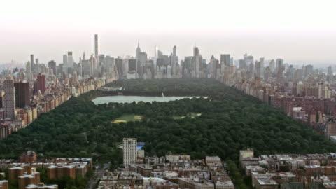 aerial central park in manhattan, nyc - central park manhattan stock videos & royalty-free footage