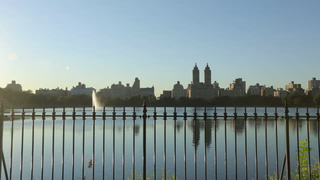 central park - jacqueline kennedy onassis reservoir - central park reservoir stock videos and b-roll footage