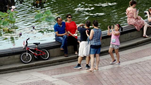 vídeos de stock e filmes b-roll de central park, new york city - fonte bethesda