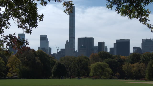 Central Park NYC In Autumn - Great Lawn, NYC Skyline, Fall Colors