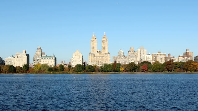 central park reservoir new york city - upper west side manhattan stock videos and b-roll footage