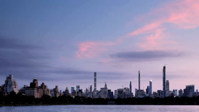 central park skyline time lapse - central park reservoir stock videos and b-roll footage