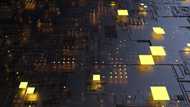 a central processing unit (cpu). 3d rendering futuristic circuit board background - circuit board stock videos & royalty-free footage