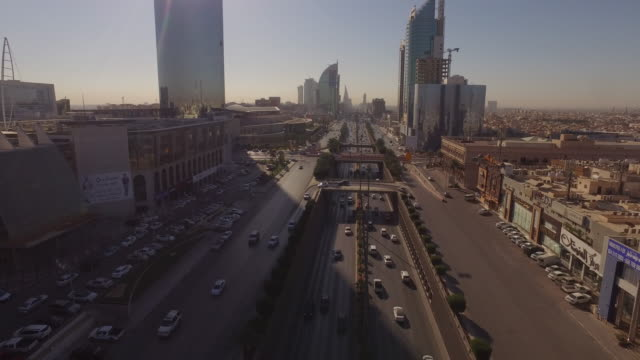 central riyadh, drone aerials - saudi arabia stock videos & royalty-free footage