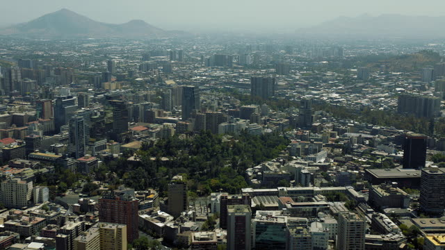 Central Santiago Chile Aerial View