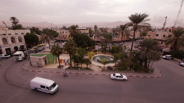 WS Central Square in the modern city center of Jericho - seen from above