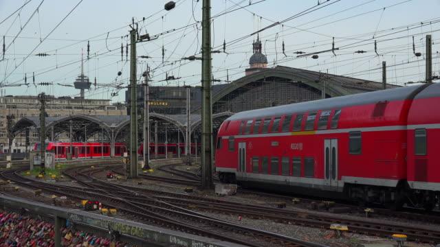 central station, cologne, north rhine westphalia, germany - verkehrsweg stock-videos und b-roll-filmmaterial
