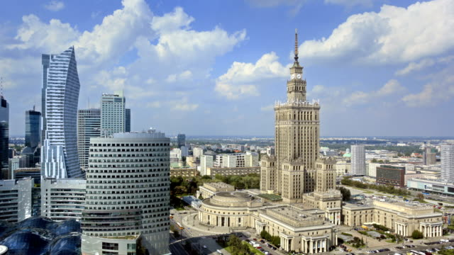 central warsaw time lapse - warsaw stock videos and b-roll footage