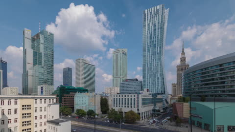 central warsaw - poland stock videos & royalty-free footage