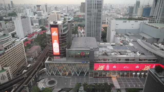 centralworld shopping mall operated by central pattana pcl in bangkok thailand on tuesday june 19 2018 - electronic billboard stock videos and b-roll footage