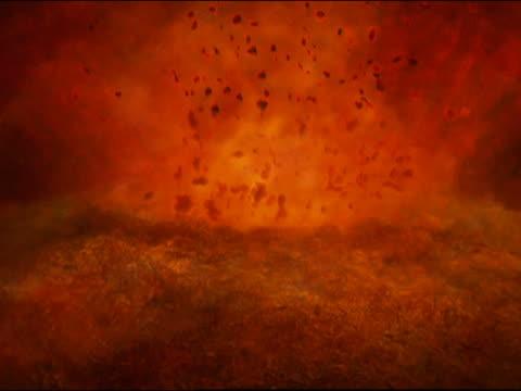 CGI centre of earth, animation