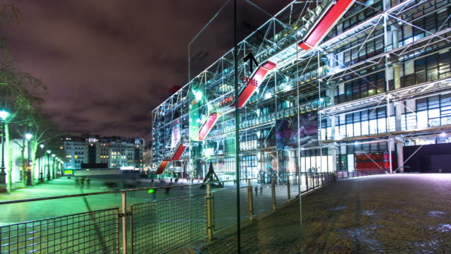 Centre Pompidou by Night - Time Lapse