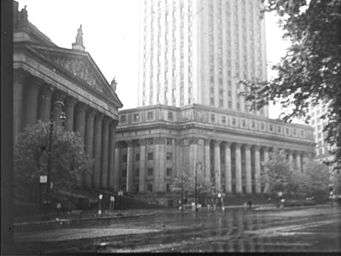 60 centre street supreme court building and foley square area new york supreme courthouse on october 04 1932 in new york new york - 1932 stock-videos und b-roll-filmmaterial