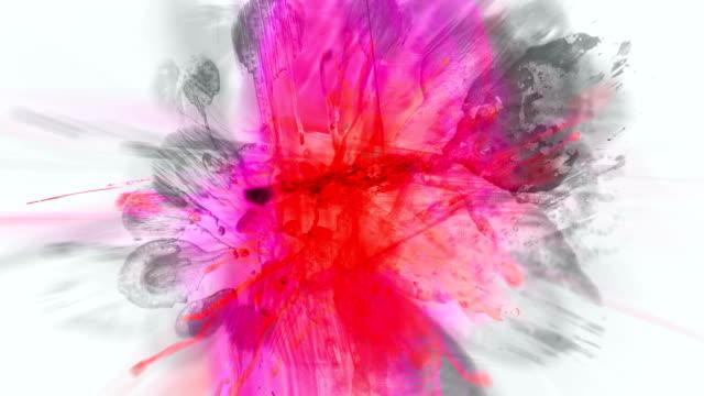 stockvideo's en b-roll-footage met from blood : centrifugal & centripetal grey (loop) - graffiti